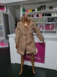 Barbie Signature BarbieStyle Doll Fashion brown coat Gold Label  style