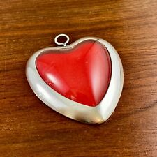 Rare Gorham Sterling Silver Picture Frame / Ornament Puffy Heart - No Monogram