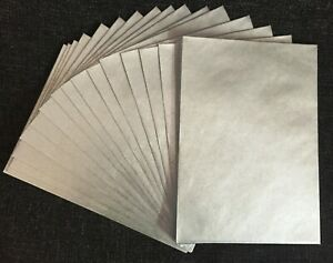 25 x C6 (A6) 114 x 162mm Pearlescent Silver 90gsm Gummed Greeting Envelopes