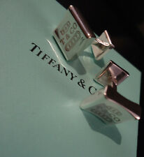 Tiffany & Co. 1837 Cufflinks - Solid Silver - .925 Silver - Cased - Suede Pouch
