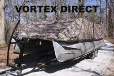 NEW VORTEX COMBO PACK CAMO 24 FT ULTRA PONTOON/DECK BOAT COVER+SUPPORT SYSTEM