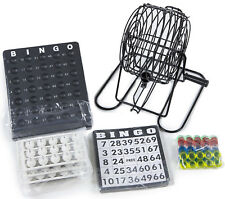 BINGO SET BALL WHEEL WIRE CAGE LOTTO GAME SET WITH CARD MARKER TICKET SET