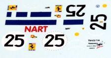decal 1/43 FERRARI 412P NART n°25 24h LE MANS 1967  RENAISSANCE TK43-16