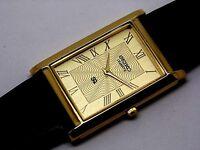 seiko quartz men's super slim golden dial japan made watch running order