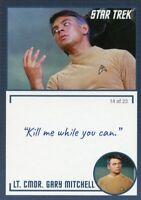 Star Trek TOS Archives & Inscriptions card 13 LT CMDR Gary Mitchell Var 14 of 23