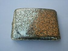 JAPANESE 950 STERLING SILVER HAND CHASED CIGARETTE CASE - MINT CONDITION