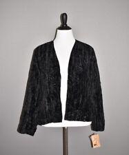 CHOICES NEW $65 Black Velvet Sequin Open Cardigan Jacket PXL Petite XL