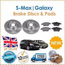 Bremsscheiben vorne & Bremsbeläge Satz für Ford S-Max & Galaxy 2006-2011 NEU