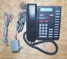 Lot of 6 Nortel Networks 8314 2-Line Phone NT2N30 Black NT2N30AA13 Tested