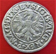 Silver medieval Coin 1/2 Groschen 1546. RARE!!! Poland, Lithuania