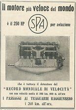 W3107 Motore per aviazione SPA 250 HP - Pubblicità 1918 - Advertising