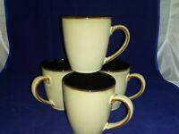 Pfaltzgraff Everyday Taos Coffee Mug Tea Cup Stoneware Brown Tan Khaki SET OF 4