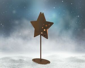 Small Star Candle Holder - Garden Stake - 2 for the price of 1