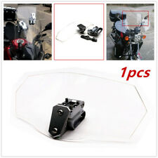Adjustable Clear Windshield Clip Extension Spoiler Wind Deflector Fit Motorcycle