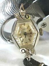 Bulova Vintage Ladies 14K Gold Diamond Watch