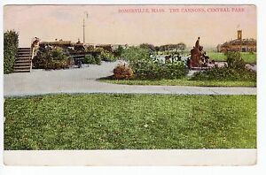 1908 Somerville, MA Postcard - The Cannons, Central Park - Posted