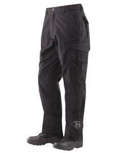 Tru-Spec 24-7 Men's EMS Pants, Teflon, PolyCotton RipStop, Black, 44x37 1121090