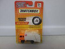 Matchbox New Color Refuse Truck Orange MB36