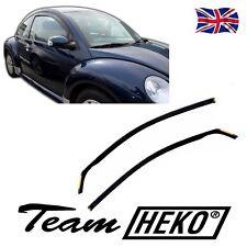 SET OF FRONT WIND DEFLECTORS for VW NEW BEETLE 3-DOOR 1998-2014  2pc HEKO TINTED