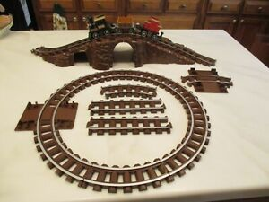 LINCOLN LOG Great West Express REPLACEMENT TRAIN Straight Curved Track & tunnel