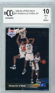 1992 Upper Deck Basketball Shaquille O'Neal ROOKIE RC Shaq #1 BCCG 10