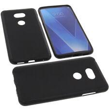 ETUI pour LG V30 smartphone Coque Housse TPU Coque noire
