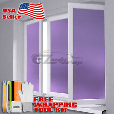 *Premium Purple Frosted Film Glass Home Bathroom Window Security Privacy Sticker