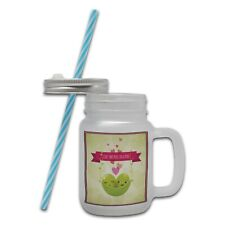 Like Two Peas in A Pod... Mason Jar Mug w/Straw