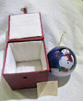 Hand Painted Christmas Ornament Snowman