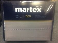 Brand New Martex Damask 500 Thread Count 100% Cotton Sateen King Size Sheet Set