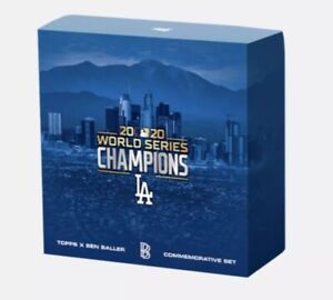 2020 TOPPS X BEN BALLER LOS ANGELES DODGERS WORLD SERIES CHAMPIONSHIP SET W/AUTO
