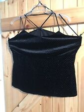 """V By Vent Black Sparkle Party Top Size 16 Black With Silver Sparkle Chest 40""""-42"""