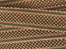 HOULES PASSEMENTERIE Lattice Trim Tape from France Pink & Green BTY