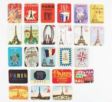 SET OF 6 FRIDGE MAGNETS RETRO  PARIS ICONS SOUVENIR FREE UK POSTAGE MAGNET