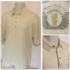 Tommy Bahama Men's Silk Cotton Short Sleeve Polo Shirt SZ XL