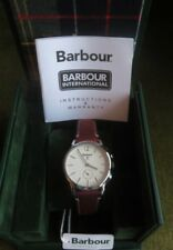 BARBOUR Seaton Mens Watch Brwn Leather Strap *BRAND NEW IN BOX~Includ Tags Docs*