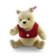 Steiff Bär Teddybär Winnie Puuh 20cm Mohair blond mit Musikwerk Geschenk 355004