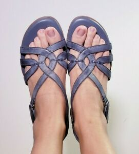 Naturalizer Comfort N5 Women's Catrina Blue Leather Slingback Sandals! Size 11 M