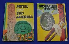 2 Sammelbilderalben Margarine-Union AG: AUSTRALIEN NZ / MITTEL- UND SÜDAMERIKA