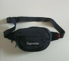 FW18 Supreme black waist shoulder bag Water and Abrasion resistant