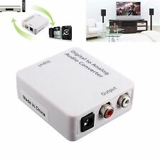 Digital Optical Coaxial Toslink To Analog Audio Signal Converter Adapter DC 5V