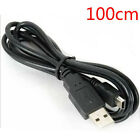 100cm Balck USB 2.0 A Male to Mini 5 Pin B Data Charging Cable Cord Adapter