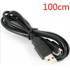 100cm Balck USB 2.0 A Male to Mini 5 Pin B Data Charging Cable Cord Adapter Pop