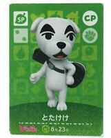 K.K.TOTAKEKE Animal Crossing Amiibo Card  Nintendo CP Japan Rare 0shipping FedEx