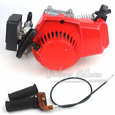 47CC 2-stroke Engine+Grips+Throttle Cable Pocket Mini Bike Scooter 7T 25H Chain