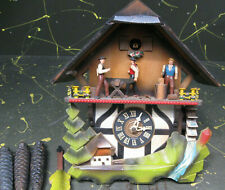 1969 woodcutter's woodsmen cuckoo clock, made in West Germany - working