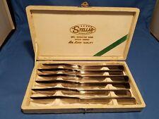 Vintage Stellar 6 piece Stainless Steel Knife Set Japan Silverware