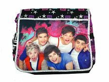 Black and Purple Stars One Direction Messenger Bag - One Direction Laptop Bag