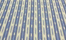 """COVINGTON VISHNU BLUE CREAM STRIPE FURNITURE FABRIC BY THE YARD 54"""" WIDE"""