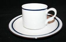 Dansk Christianshavn Blue Coffee Tea Mug Cup and Saucer Set White Japan Denmark